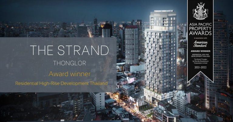 The Strand Thonglor win the prize in Asia Pacific Property Awards 2021-22
